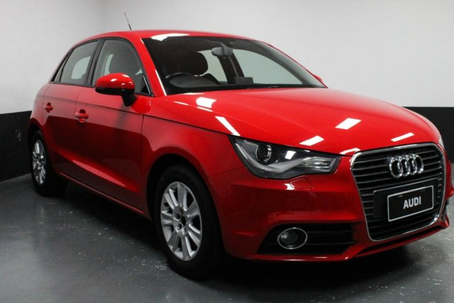 Used Audi A1 8X MY12 Ambition Sportback S Tronic, 2012 Audi A1 8X MY12 Ambition Sportback S Tronic Red 7 Speed Sports Automatic Dual Clutch Hatchback