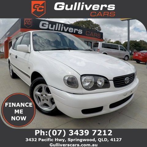 Used Toyota Corolla AE112R Ascent Seca, 2000 Toyota Corolla AE112R Ascent Seca White 4 Speed Auto Active Select Liftback
