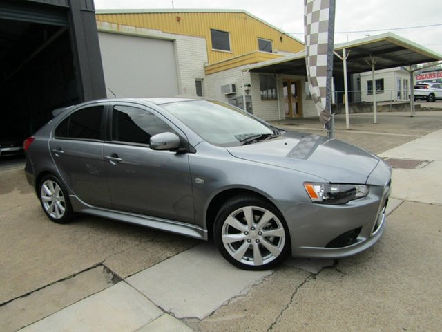Used Mitsubishi Lancer CJ MY15 GSR Sportback Moorooka, 2015 Mitsubishi Lancer CJ MY15 GSR Sportback Grey 6 Speed Constant Variable Hatchback