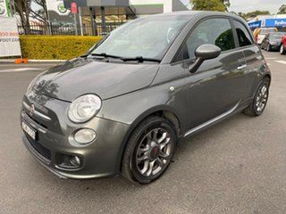 2014 Fiat 500 Series 1 S Dualogic Grey 5 Speed Sports Automatic Single Clutch Hatchback.