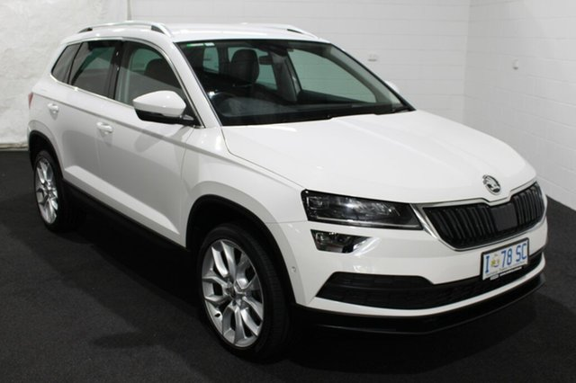 Used Skoda Karoq NU MY18 110TSI DSG FWD, 2018 Skoda Karoq NU MY18 110TSI DSG FWD White 7 Speed Sports Automatic Dual Clutch Wagon