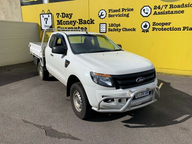 Used Ford Ranger PX XL Hi-Rider, 2013 Ford Ranger PX XL Hi-Rider White 6 Speed Sports Automatic Cab Chassis