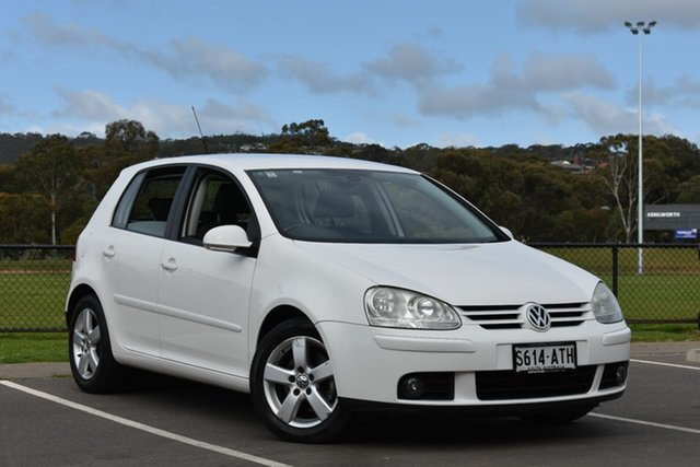Used Volkswagen Golf V MY08 Pacific Tiptronic, 2008 Volkswagen Golf V MY08 Pacific Tiptronic White 6 Speed Sports Automatic Hatchback