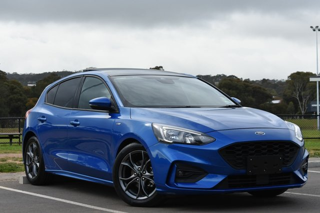 Used Ford Focus SA 2019.75MY ST-Line, 2019 Ford Focus SA 2019.75MY ST-Line Blue 8 Speed Automatic Hatchback