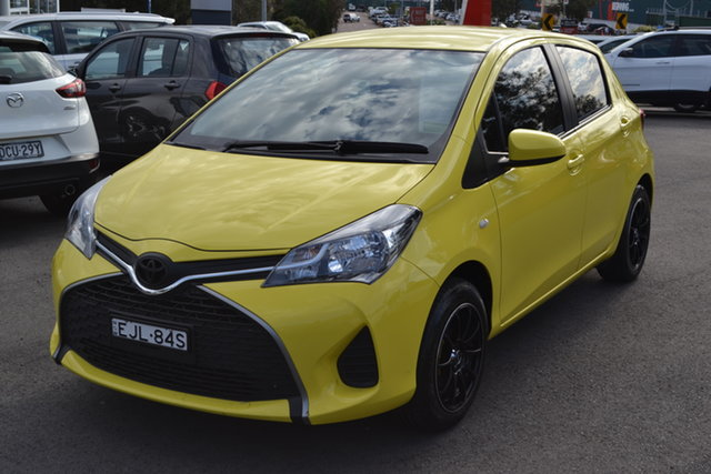 Used Toyota Yaris NCP130R Ascent, 2015 Toyota Yaris NCP130R Ascent Yellow 4 Speed Automatic Hatchback