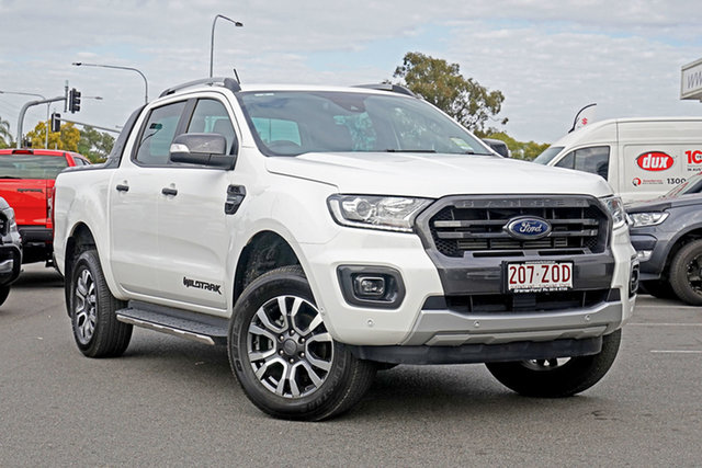 Used Ford Ranger PX MkIII 2019.75MY Wildtrak, 2019 Ford Ranger PX MkIII 2019.75MY Wildtrak White 10 Speed Sports Automatic Double Cab Pick Up