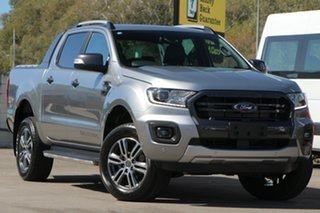 2020 Ford Ranger PX MkIII 2020.25MY Wildtrak Silver 10 Speed Sports Automatic Double Cab Pick Up.
