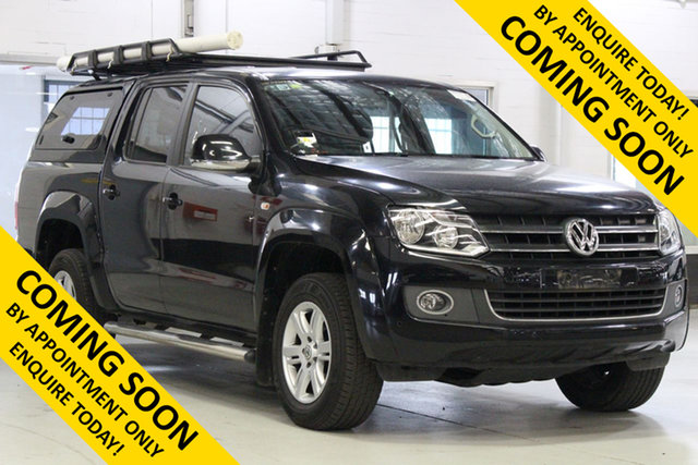 Used Volkswagen Amarok 2H MY15 TDI420 Highline (4x4), 2015 Volkswagen Amarok 2H MY15 TDI420 Highline (4x4) Black 8 Speed Automatic Dual Cab Utility