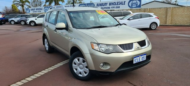 Used Mitsubishi Outlander ZG MY07 LS East Bunbury, 2007 Mitsubishi Outlander ZG MY07 LS Gold 6 Speed Constant Variable Wagon