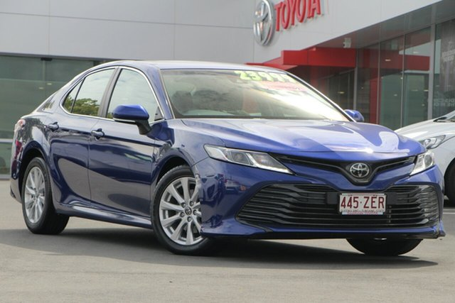 Used Toyota Camry ASV70R Ascent, 2018 Toyota Camry ASV70R Ascent Dark Blue Mica 6 Speed Sports Automatic Sedan