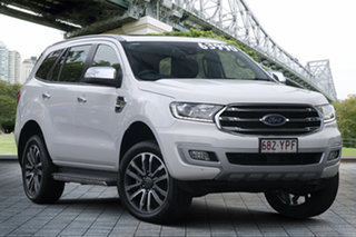 2018 Ford Everest UA II 2019.00MY Titanium White 10 Speed Automatic SUV.