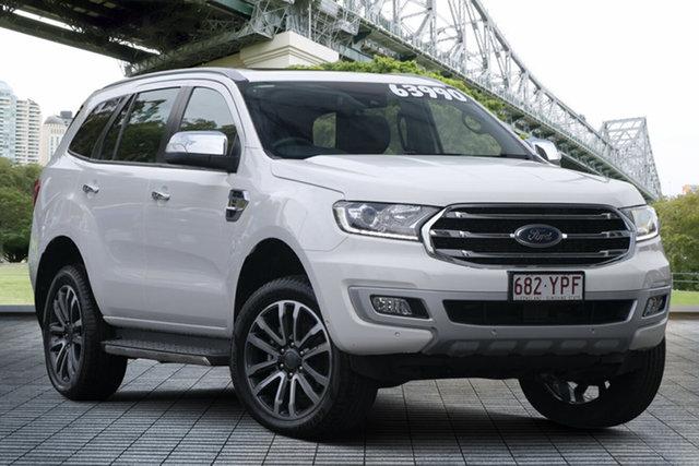 Used Ford Everest UA II 2019.00MY Titanium, 2018 Ford Everest UA II 2019.00MY Titanium White 10 Speed Sports Automatic SUV