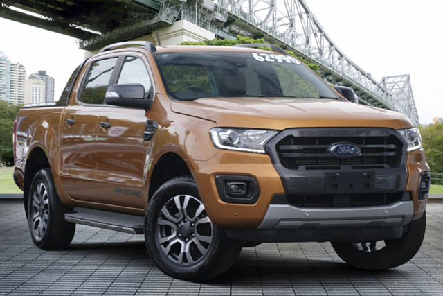 Used Ford Ranger PX MkIII 2019.75MY Wildtrak, 2019 Ford Ranger PX MkIII 2019.75MY Wildtrak Orange 10 Speed Sports Automatic Double Cab Pick Up