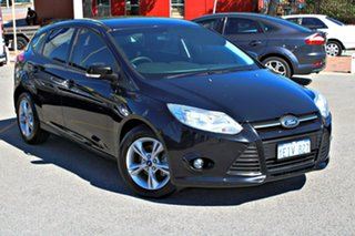 2013 Ford Focus LW MkII Trend PwrShift Black 6 Speed Automatic Hatchback.