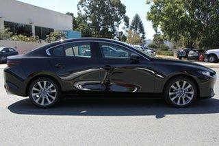 2021 Mazda 3 BP G25 GT Jet Black 6 Speed Automatic Sedan.