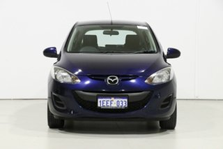 2013 Mazda 2 DE MY12 Neo Blue 5 Speed Manual Hatchback.