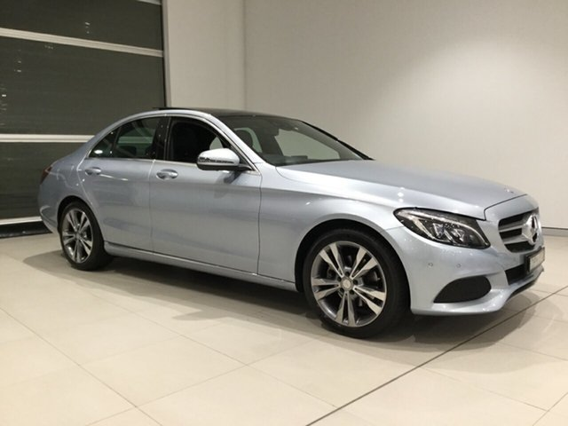 Used Mercedes-Benz C-Class W205 806+056MY C200 7G-Tronic +, 2016 Mercedes-Benz C-Class W205 806+056MY C200 7G-Tronic + Billet Silver 7 Speed Sports Automatic