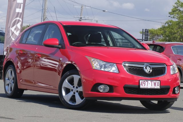 Used Holden Cruze JH Series II MY14 Equipe, 2014 Holden Cruze JH Series II MY14 Equipe Red Hot 5 Speed Manual Hatchback