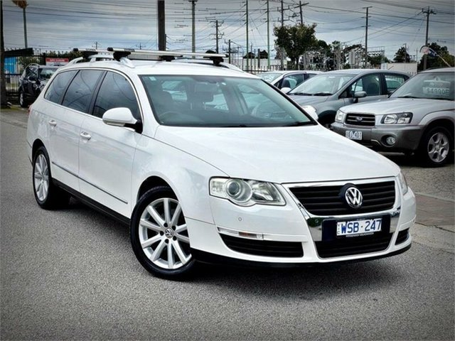 Used Volkswagen Passat Type 3C , 2008 Volkswagen Passat Type 3C 125TDI White Sports Automatic Dual Clutch Wagon
