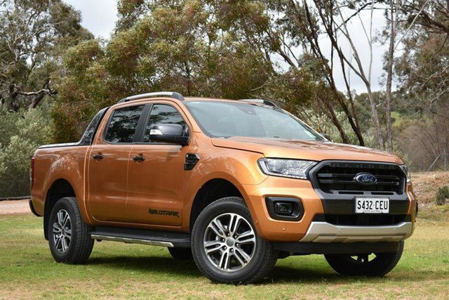 Demo Ford Ranger PX MkIII 2020.25MY Wildtrak, 2020 Ford Ranger PX MkIII 2020.25MY Wildtrak Saber 10 Speed Sports Automatic Double Cab Pick Up