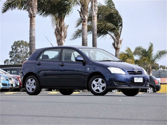 Used Toyota Corolla ZZE122R 5Y Ascent, 2005 Toyota Corolla ZZE122R 5Y Ascent Blue Automatic Hatchback