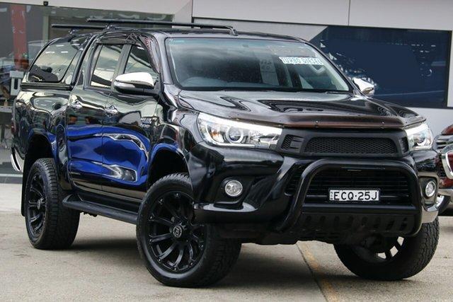 Used Toyota Hilux KUN26R MY14 SR5 Double Cab, 2015 Toyota Hilux KUN26R MY14 SR5 Double Cab Black 5 Speed Automatic Utility