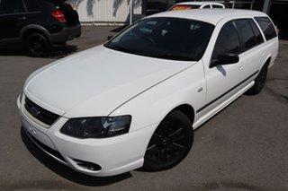 2008 Ford Falcon BF Mk II XT White 4 Speed Sports Automatic Wagon.