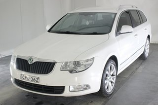 2012 Skoda Superb 3T MY13 Elegance DSG 118TSI White 7 Speed Sports Automatic Dual Clutch Wagon