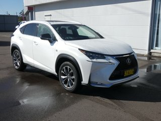 2017 Lexus NX AGZ15R NX200t AWD F Sport White Pearl 6 Speed Sports Automatic Wagon.