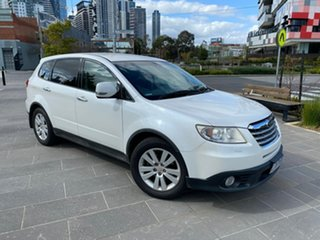2008 Subaru Tribeca B9 MY08 R AWD White 5 Speed Sports Automatic Wagon.