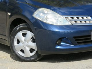 2010 Nissan Tiida C11 S3 ST Blue 6 Speed Manual Sedan.