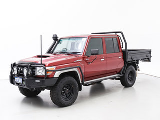 2018 Toyota Landcruiser VDJ79R GXL (4x4) Red 5 Speed Manual Double Cab Chassis.