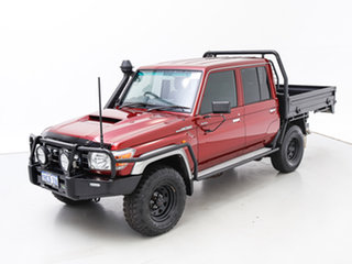 2018 Toyota Landcruiser VDJ79R GXL (4x4) Red 5 Speed Manual Double Cab Chassis