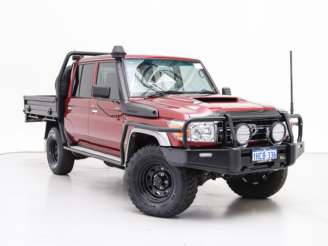 Used Toyota Landcruiser VDJ79R GXL (4x4), 2018 Toyota Landcruiser VDJ79R GXL (4x4) Red 5 Speed Manual Double Cab Chassis