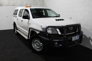 2014 Toyota Hilux KUN26R MY14 SR Double Cab Glacier 5 Speed Manual Utility.