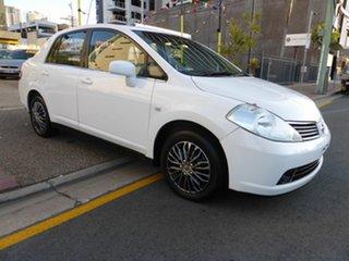 2008 Nissan Tiida C11 MY07 ST White 4 Speed Automatic Sedan