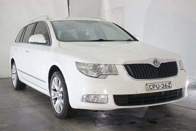 Used Skoda Superb 3T MY13 Elegance DSG 118TSI, 2012 Skoda Superb 3T MY13 Elegance DSG 118TSI White 7 Speed Sports Automatic Dual Clutch Wagon
