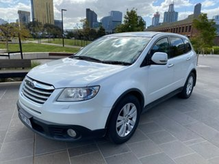 2008 Subaru Tribeca B9 MY08 R AWD White 5 Speed Sports Automatic Wagon