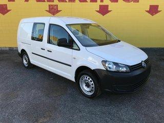 2014 Volkswagen Caddy 2KN MY14 TDI250 BlueMOTION Crewvan Maxi White 5 Speed Manual Van.