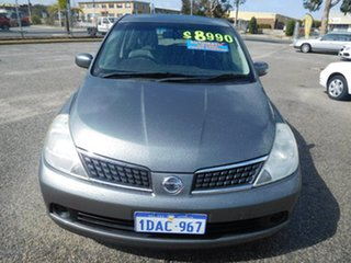 2009 Nissan Tiida C11 MY07 ST Grey 4 Speed Automatic Hatchback.