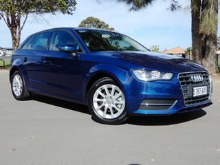 2013 Audi A3 8P MY13 Attraction Sportback S Tronic Blue 7 Speed Sports Automatic Dual Clutch.