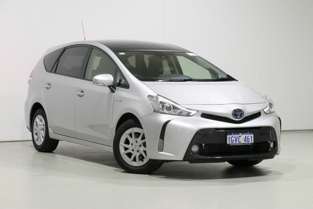 Used Toyota Prius v ZVW40R Upgrade I-Tech Hybrid, 2019 Toyota Prius v ZVW40R Upgrade I-Tech Hybrid Silver Continuous Variable Wagon