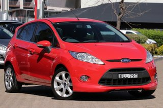 2009 Ford Fiesta WS CL Red 4 Speed Automatic Hatchback.