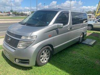 2002 Nissan El Grande Silver 5 Speed Automatic Van.