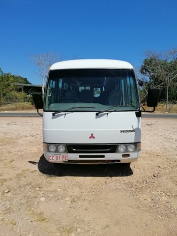 Used Mitsubishi Fuso Rosa BE649 Base, 2004 Mitsubishi Fuso Rosa BE649 Base White Bus