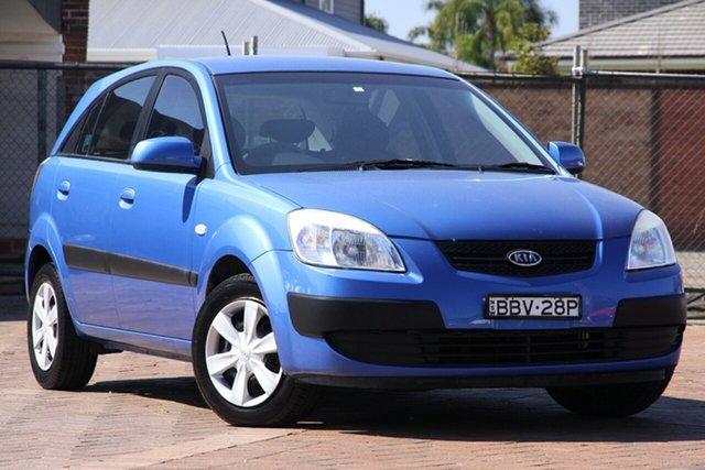 Used Kia Rio JB MY07 LX, 2007 Kia Rio JB MY07 LX Blue 5 Speed Manual Hatchback