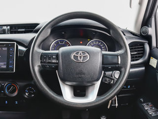 2016 Toyota Hilux GUN126R SR (4x4) Black 6 Speed Manual Dual Cab Utility