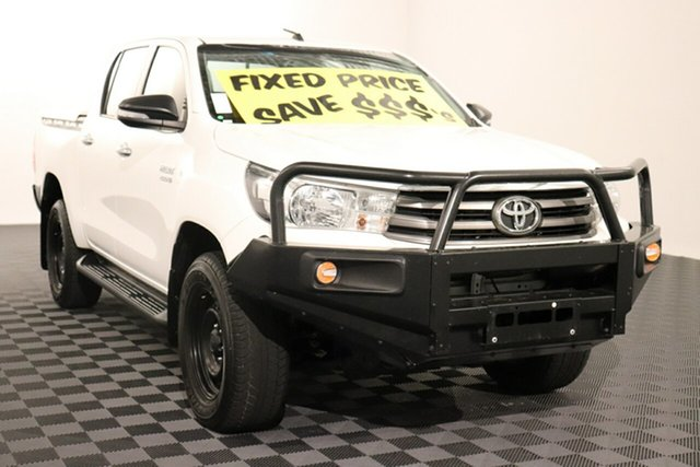 Used Toyota Hilux GUN126R SR Double Cab, 2017 Toyota Hilux GUN126R SR Double Cab Glacier 6 speed Automatic Utility