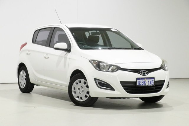 Used Hyundai i20 PB MY12 Active, 2012 Hyundai i20 PB MY12 Active White 5 Speed Manual Hatchback