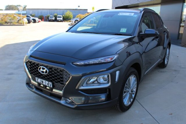 Demo Hyundai Kona OS.3 MY20 Elite 2WD, 2020 Hyundai Kona OS.3 MY20 Elite 2WD Dark Knight 6 Speed Sports Automatic Wagon